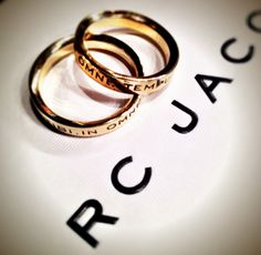 Latin language rings from Marc Jacobs Makings of a Perfect New York Weekend | Gift.Love.Charm.