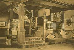 Stairwell in Halcyon Hall (Bennett School for Girls), c. 1908