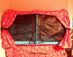 Cat show cage or show shelter curtains