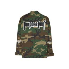 Purpose Tour Merchandise ❤ liked on Polyvore featuring home, home decor and jackets