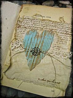 Vintage details by ch... scrap vintage art inspiration fleur paint heart script #chbycarolacoch