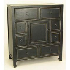 Black Wood Apothecary Cabinet Wayborn Furniture Cabinets Accent Cabinets & Chests Accent  32W x 36H x 16D  $540