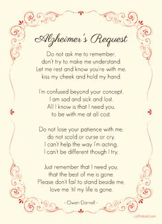 "Check out the ""Alzheimer's Request "" printable on coPrinted.com and download it for free."