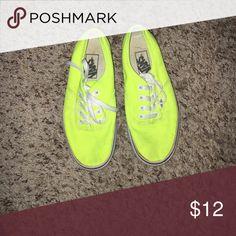 Vans neon yellow classics Vans classic sneakers Vans Shoes Sneakers