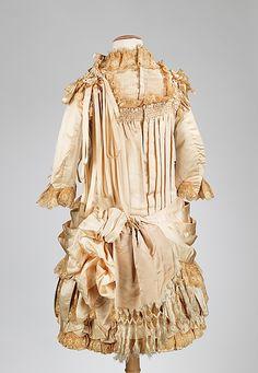 Image 2 of 2:  Dress Date: ca. 1885 Culture: American Medium: silk, cotton