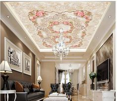 Top Classic 3d European Style European Luxury Villa Living Room Lobby Lobby Ceiling 3d Ceiling Murals Wallpaper Desktop Wallpaper Desktop Wallpaper Download From Yiwuwallpaper, $17.09| Dhgate.Com