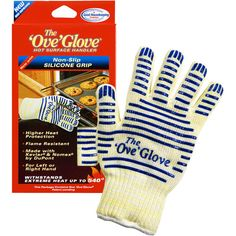 As Seen On TV: Ove Glove Hot Surface Handler. I have two of these and LOVE!! $16.98