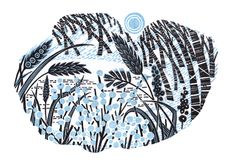 Angie Lewin 'Stopping By Woods' a limited edition wood engraving. http://www.stjudesprints.co.uk/products/stopping-by-woods