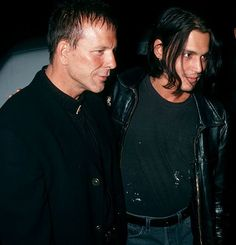 Johnny Depp Photos: Mickey Rourke and Johnny at Johnny's birthday bash