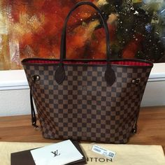 167943342ae4 Authentic 2015 LV Neverfull MM Selling an authentic Louis Vuitton Neverfull  MM in Damier Ebene!