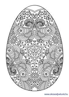 Húsvéti színező! Töltsd le és színezd ki! Kellemes szórakozást! #okosodjvelunk.hu