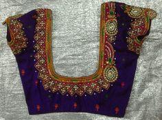 Rawsilk blouse with kundan work 7702919644