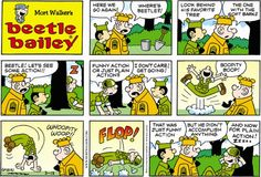 Beetle Bailey strip for March 2016 Mort Walker, Beetle Bailey, Old Comics, American Comics, Hilarious, Funny, Just For Laughs, Comic Strips, March