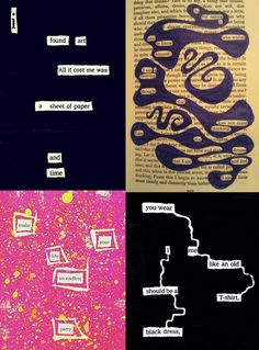 Speech-Language Activity of the Week: Blackout Poetry - pinned by @PediaStaff – Please Visit  ht.ly/63sNt for all our pediatric therapy pins