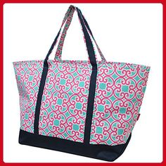 ddb398fa40 Geometric Trellis Vine Print NGIL Canvas Fashion Boat Tote Bag - Top handle  bags ( Amazon Partner-Link)