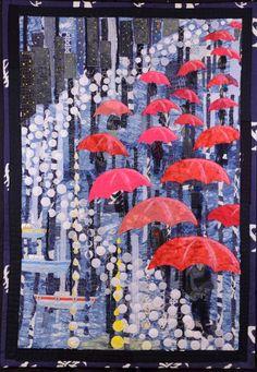 It Looks Like Rain, Sue Robinson. 2016 Canberra Quilters Guild show (Australia)