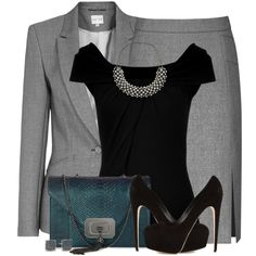 A fashion look from October 2014 featuring Michael Kors blouses, Reiss blazers and Reiss skirts. Browse and shop related looks.