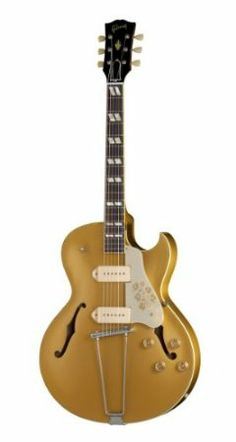Gibson Memphis ES295BGNH1 Hollow-Body Electric Guitar - Bullion Gold : Electric Guitar Strings