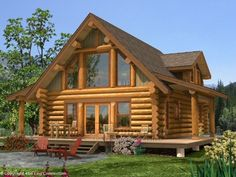 Why You Should Consider Buying a Log Cabin - Rustic Design Little Log Cabin, Tiny Log Cabins, Tiny House Cabin, Log Cabin Homes, Small Log Cabin Plans, Log Cabin House Plans, Mountain Cabins, Log Cabin Kits Prices, Cabin Design