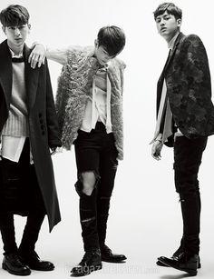 iKON Yunhyeong, Donghyuk, & Chanwoo  - Harper's Bazaar Magazine February Issue '16
