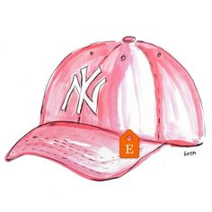 cf4c24c62 Faded pink Yankees hat print just added to my #etsyshop in time for opening  day