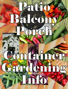 For those who want to garden, but are limited on time or space, a great method to use is container gardening. With the containers on your pa...