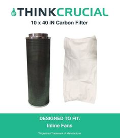 "10×40"" Carbon Inline Fan Filter – By Think Crucial – Product Review"