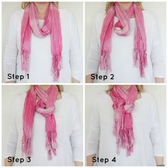 How to Tie a Women's Neck Scarf A FEW WRITTEN INSTRUCTIONS ON SITE TO GO ALONG WITH PHOTOS