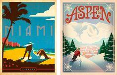 De viaje por U.S.A con los posters vintage de Anderson design   OLDSKULL