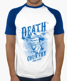 Camiseta Death Country D Camiseta hombre, estilo béisbol  18,90 € - ¡Envío gratis a partir de 3 artículos!