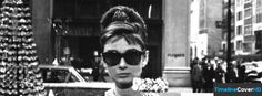 Vintage Audrey Hepburn Breakfast At Tiffanys Facebook Cover Timeline Banner For Fb Facebook Cover