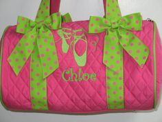 Personalized 18 S Dance Bag 30 95 Via Etsy Ballerina Party