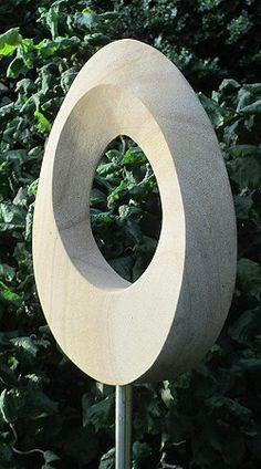 Geometric stone sculpture Möbius egg III