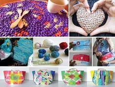 Plastic Bag Crafts, Plastic Bag Crochet, Fused Plastic, Reuse, Quilling, Repurposed, Weaving, Diy Projects, Kids Rugs