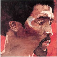 Thomas Hearns portrait by Bart Forbes, 1985