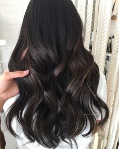 Black Coffee Hair With Ombre Highlights - 10 Cool Ideas of Coffee Brown Hair Color - The Trending Hairstyle Dark Hair With Highlights, Ombre Hair Color, Hair Color For Black Hair, Brown Hair Colors, Dark Brown Hair With Low Lights, Black Highlighted Hair, Lowlights For Black Hair, Black Hair Perm, Indian Hair Highlights