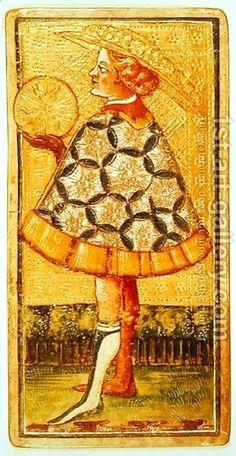 tarot, page of pentacles (by Antonio Cicognara)