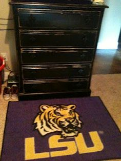 LSU Personalized Locker Room Photo....I Want This For Shots Room!!! |  Babyshots | Pinterest | Lockers
