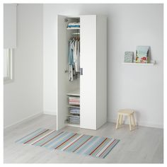 IKEA STUVA wardrobe Deep enough to hold standard-sized adult hangers.