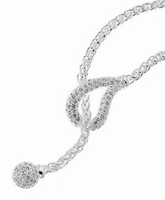 "Hang Loose Necklace (Silver) Item #: 5337 17"" Rhinestone Necklace Your Price: $28.00"
