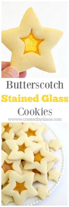 butterscotch stained glass cookies great Christmas Cookies www.createdbydiane.com