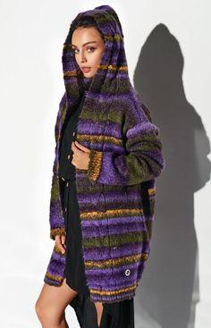 Lemoniade Ciepły sweter z kapturem fioletowy LSG103 High Neck Dress, Satin, Sweaters, Dresses, Fashion, Tricot, Turtleneck Dress, Gowns, Moda