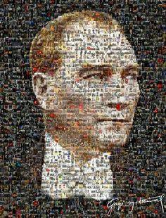 Binlerce ATATÜRK fotoğrafı bir araya geririlerek yapılmıştır. Pixel 4, World Peace, Portrait Art, Go Kart, Iphone Wallpaper, City Photo, Poster Prints, Posters, History