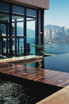 InterContinental Hong Kong's presidential suite, overlooking the dazzling Victoria Harbour.