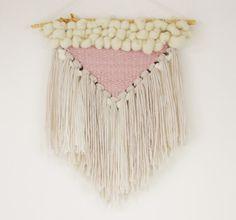 Powder pink triangle Handwoven wall hanging/Soft par BeforeLouRock
