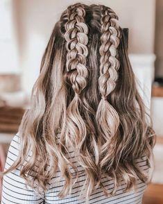 Cute Hairstyles For Teens, Cool Braid Hairstyles, Teen Hairstyles, Summer Hairstyles, Pretty Hairstyles, Wedding Hairstyles, Cute Everyday Hairstyles, Hairstyles Videos, Casual Hairstyles