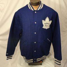 CCM Toronto Maple Leafs Letterman Varsity NHL Jacket Coat Vintage Hockey Men's L #CCM #TorontoMapleLeafs