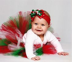 christmas tutu @Erin Graber OMG WE HAVE TO GET THIS FOR BABY TARYN!