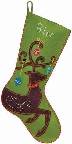 how to make a christmas stocking out of felt