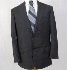 Ermenegildo Zegna Trofeo Blazer 42R 100% Wool Gray Recent Dual Vented Sport Coat #ErmenegildoZegna #TwoButton